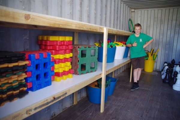 Shipping Container Shelves